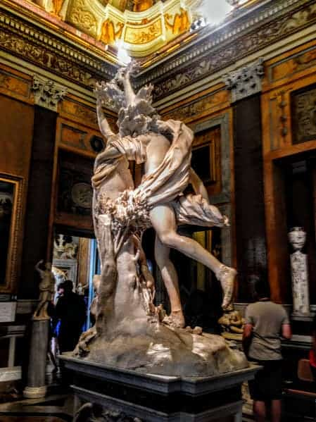 Daphne Galleria Borghese Bernini