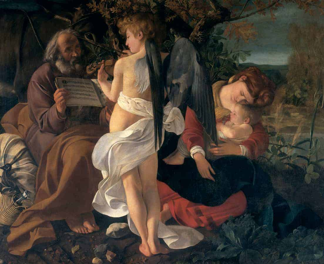 Caravaggio, Rest on the Flight Into Egypt, Public Domain