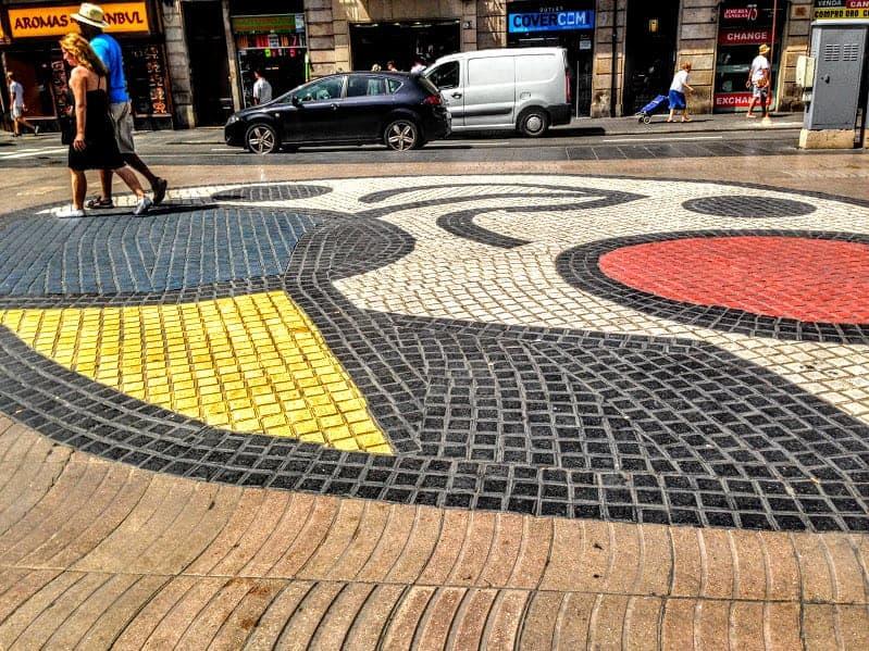 Miro Mosaic La Rambla Barcelona