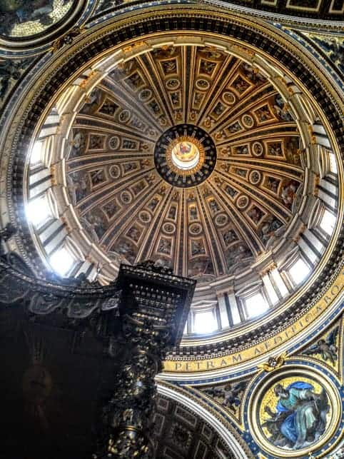 Ceiling Dome St Peter's Basilica