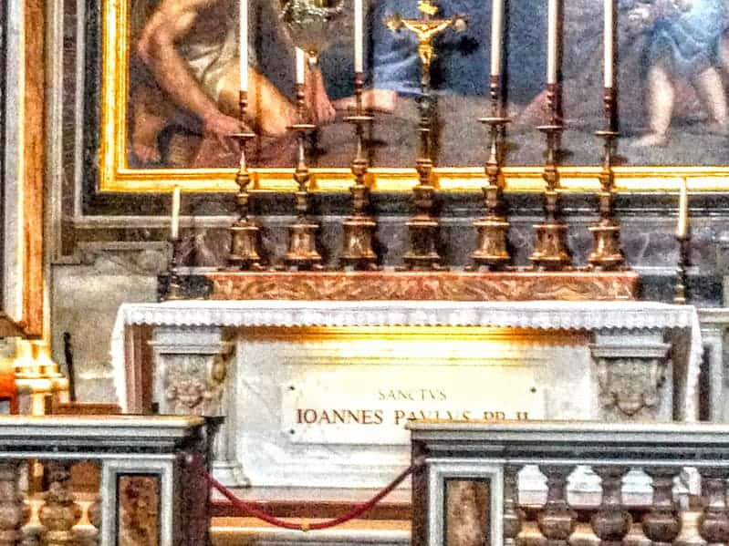 John Paul II Tomb St Peter's Basilica