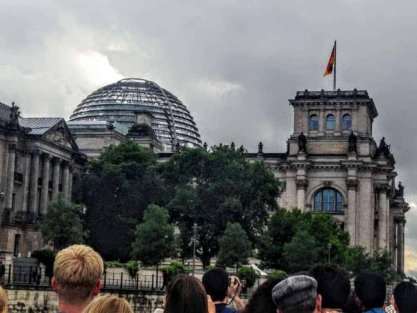 Reichstag spree river boat tour
