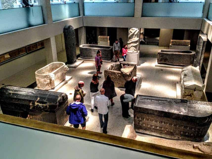 Room of Sarchophogi pergamon museum Berlin