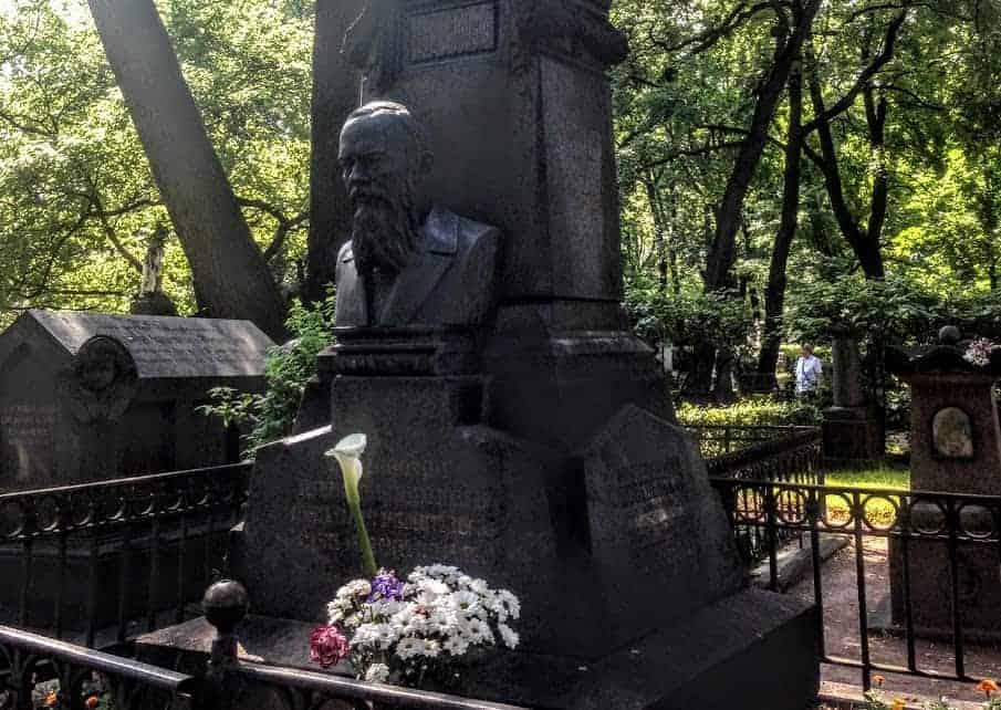 Dostoevsky Grave Alexander Nevsky Cemetery st petersburg russia