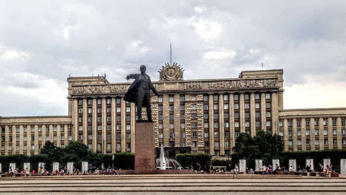 Lenin Statue st petersburg russia