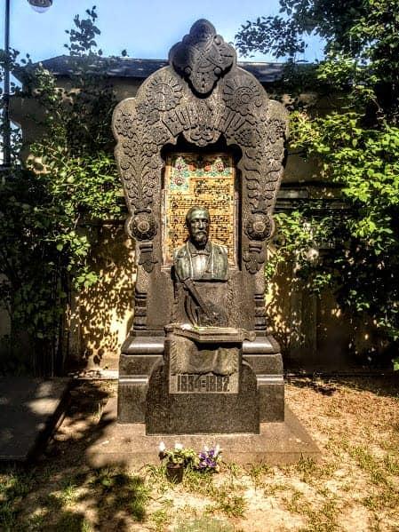 Russian Composer Alexander Nevsky Cemetery st petersburg russia