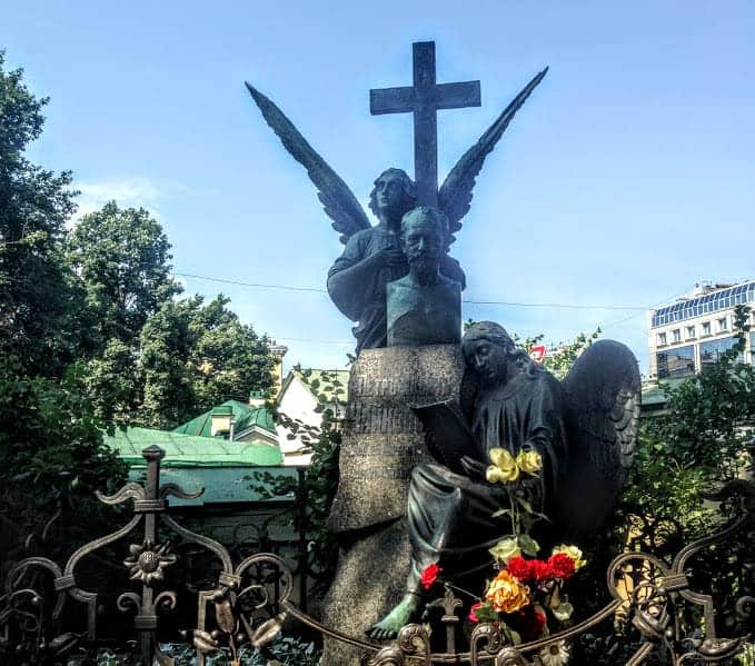 Tchaikovsky Grave Alexander Nevsky Cemetery st petersburg russia