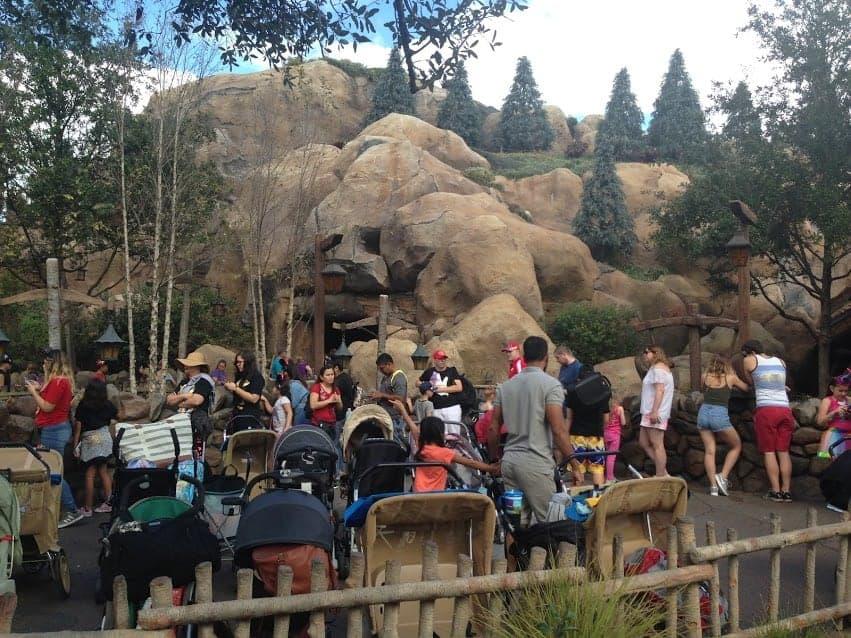 Disney Magic Kingdom Fantasyland seven dwarves mine train