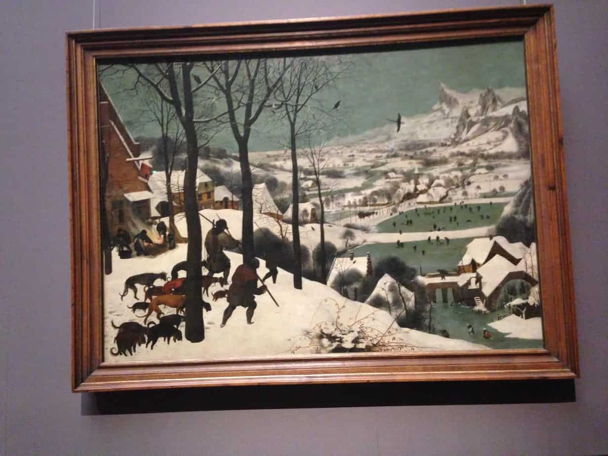 Hunters in the snow Kunsthistoriches Museum Vienna