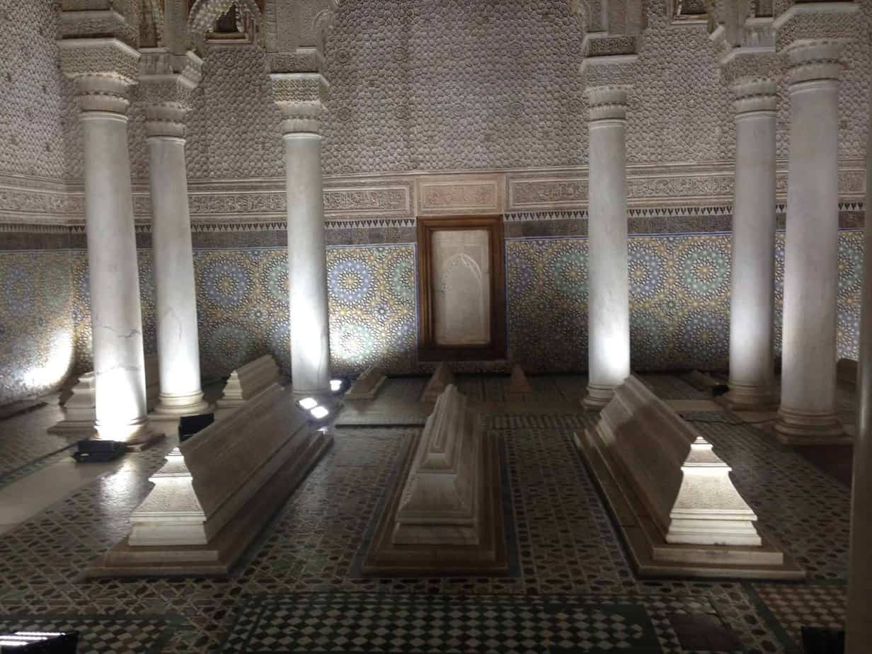 24 hours in Marrakech saadian tombs