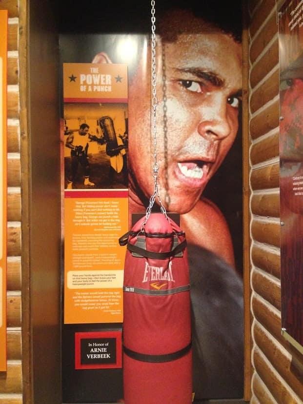 Muhammad Ali Center punching bag