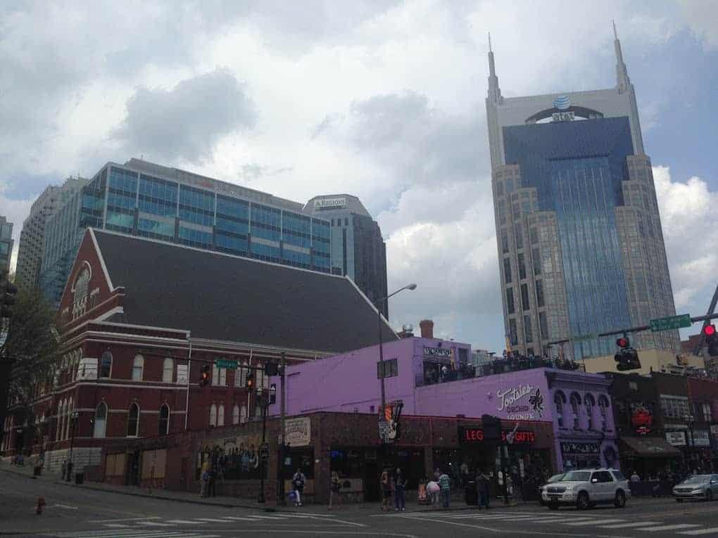 Downtown Nashville Batman building