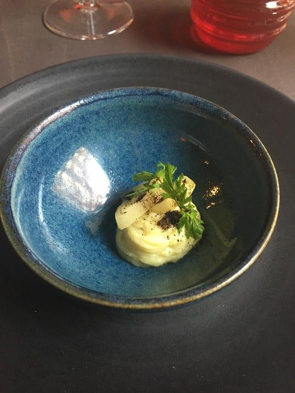 leek and potato amuse bouche