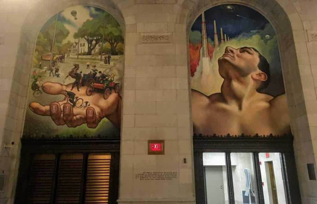 detroit public library mural