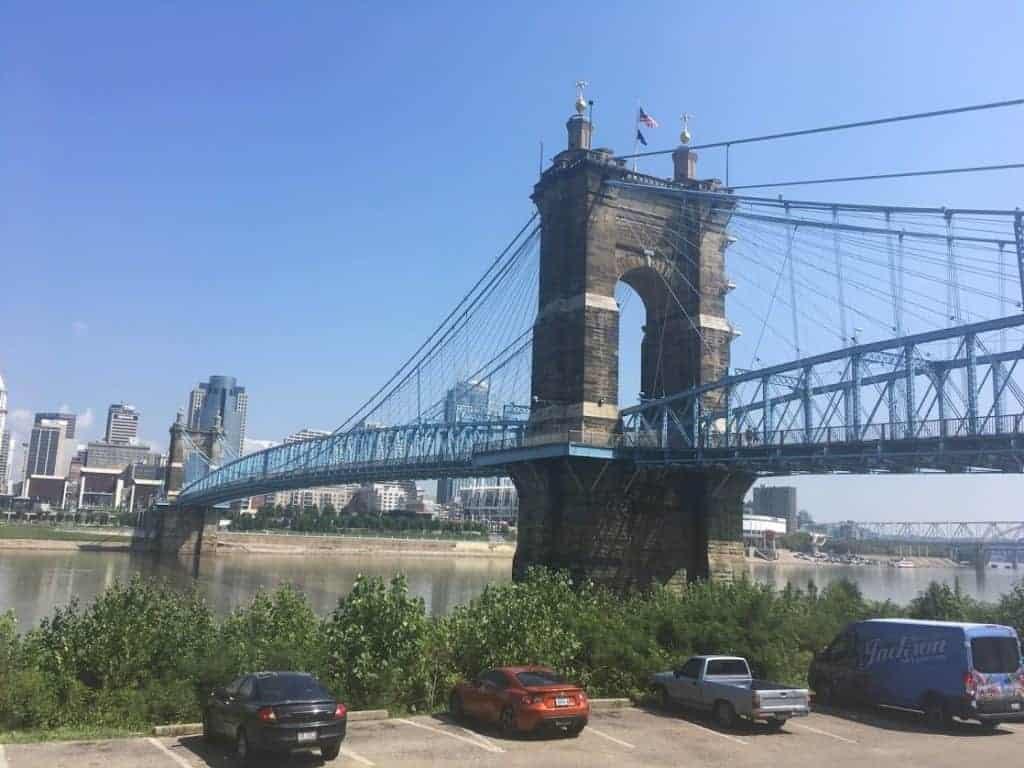 24 hours in cincinnati roebling suspension bridge