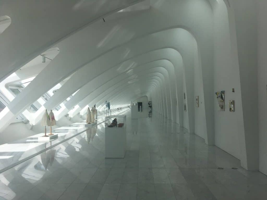 Milwaukee art museum interior