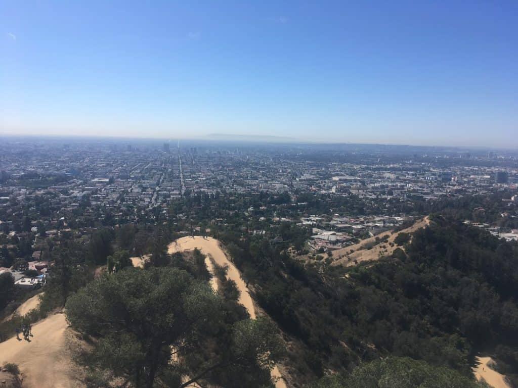 Griffith observatory view