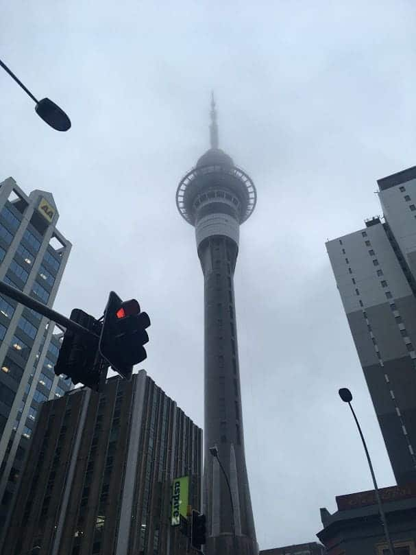 Sky Tower Auckland Fog