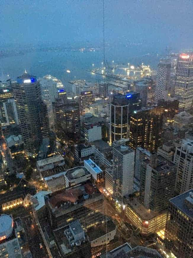 Sky Tower Auckland Night View