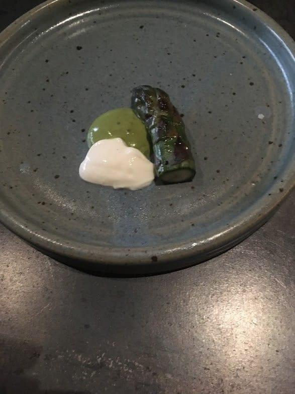Nonesuch Oklahoma City asparagus with hackleback caviar