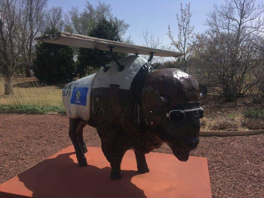 Oklahoma city buffalo statues
