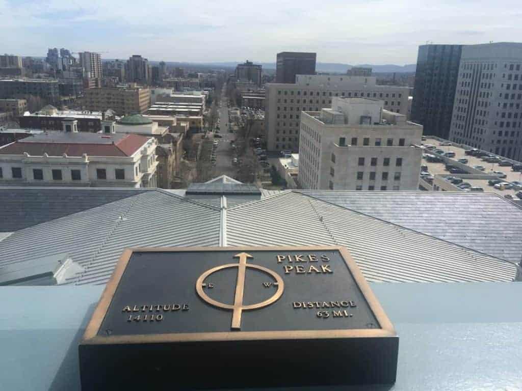 Colorado State Capitol Denver View