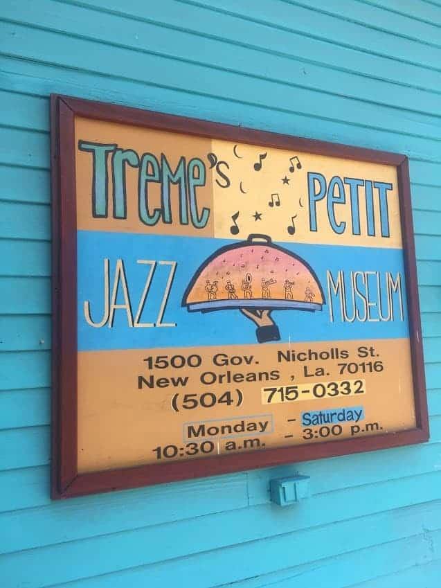 the Treme Petit Jazz Museum