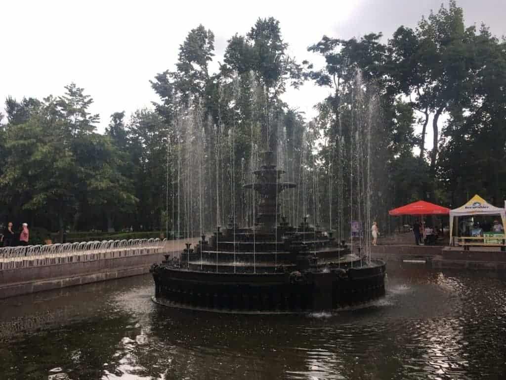 stefan cel mare park fountain