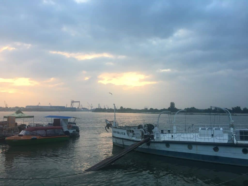 24 hours in Tulcea sunset