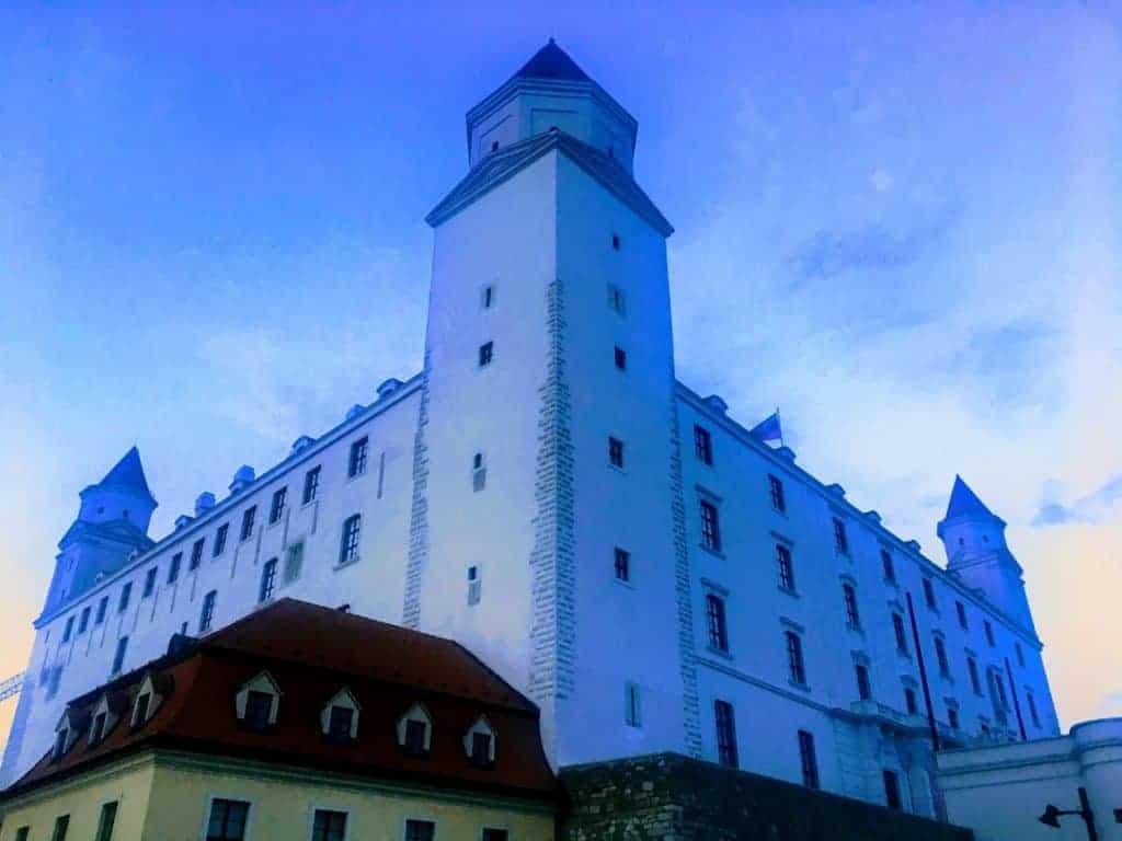 bratislava castle evening