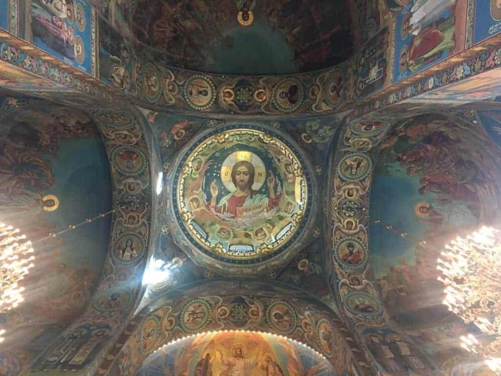 church of the savior on spilled blood mosaic