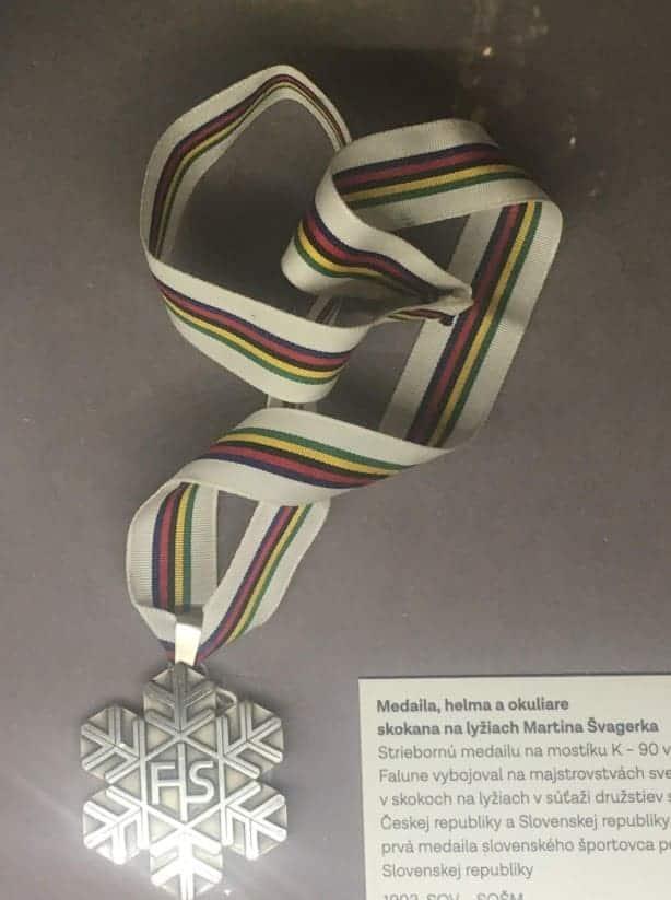 martina svagerka ski jumping medal