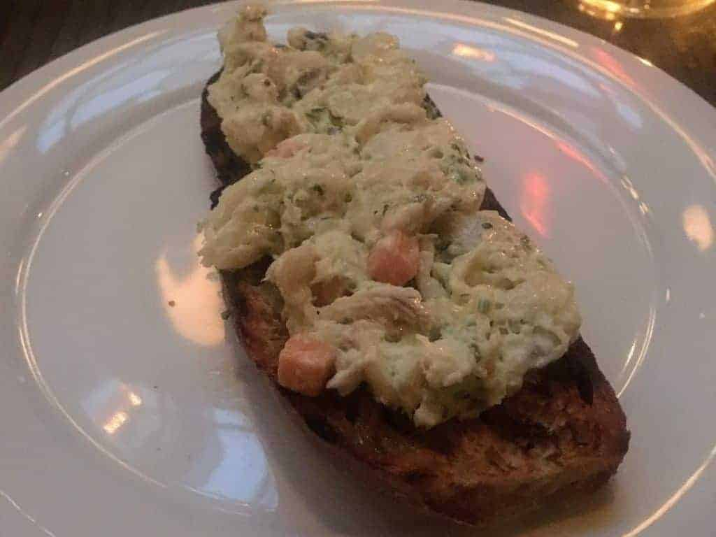 crab toast the grey