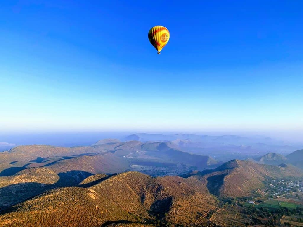hot air balloon 24 hours in jaipur