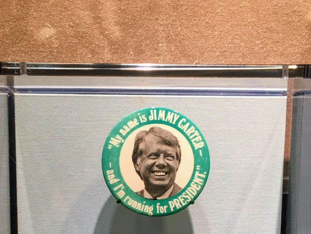 jimmy carter library president button